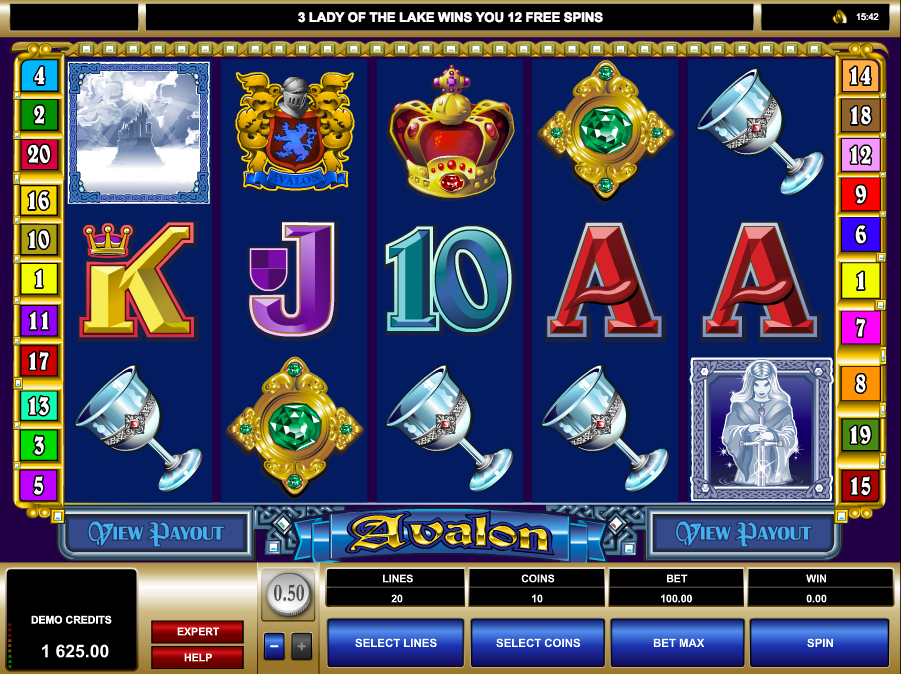 Microgaming's Avalon slot game