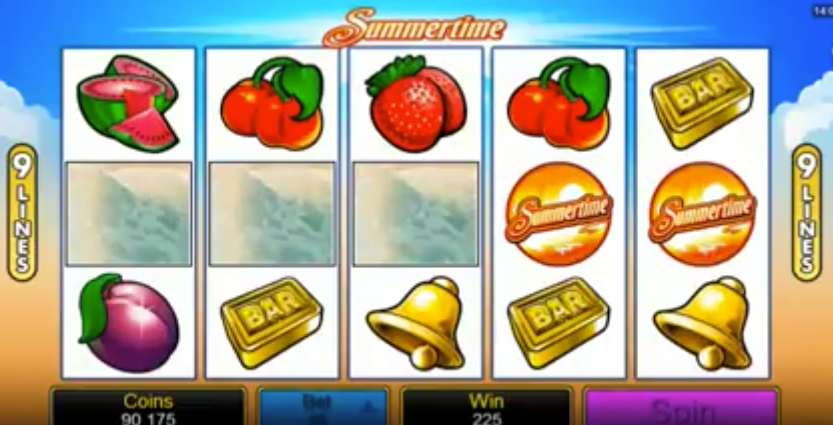Microgaming's Summertime Pokies Machine